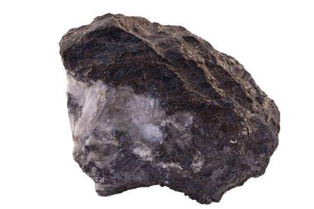 クローズ アップ、グリーンランドからの亜鉛および鉛の鉱石の鉱山は「黒い天使」と呼ばれます。背景を削除