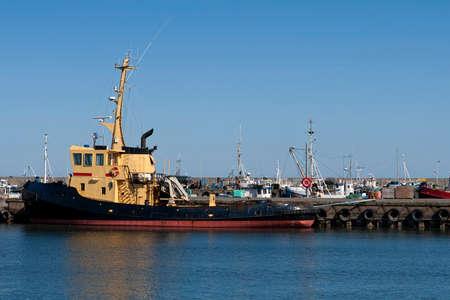 hirtshals: Tugboat in port at Hirtshals, Denmark