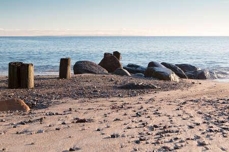 Rocks on a beach near Aarhus, Denmark Stock Photo