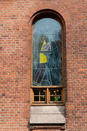 Leaded window. Shot from Aarhus, Denmark