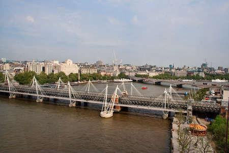 Hungerford Bridge at the Thames, London