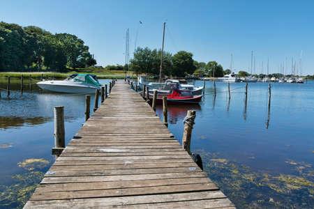 Small port on the island Als, Denmark