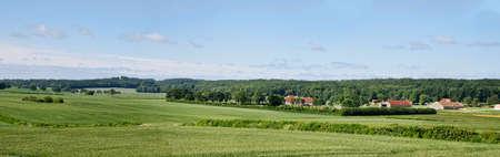 Danish countryside in the summer. Panorama Stock Photo