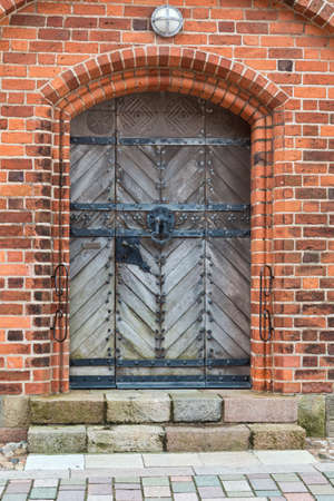 Old church door. Shot from the Cathedral in Ribe, Denmark