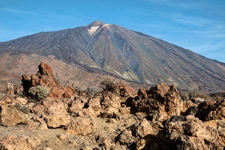 Rocks at the volcano Teide, Tenerife, Spain