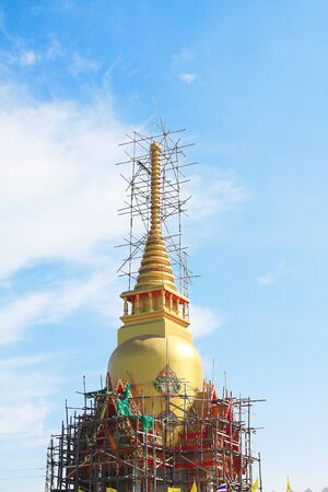 Construction of Taud grand monk, one of most famous monk in Thailand  photo