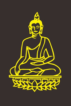 lord buddha: Buddha  vector