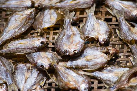 Dried fish of Thai food Stock Photo