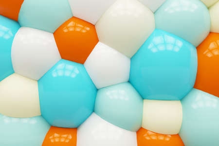 Colorful bright background of balls. 3d rendering.