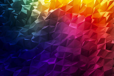 3d rendering. Crystal stone illustration of triangle background and wallpaper.