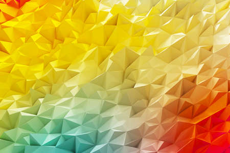 Crystal gold illustration of mosaic background. 3d rendering. Stock Photo