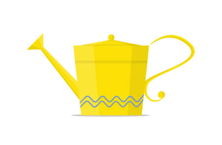 Yellow watering can for houseplant. Vector Illustration. Illustration