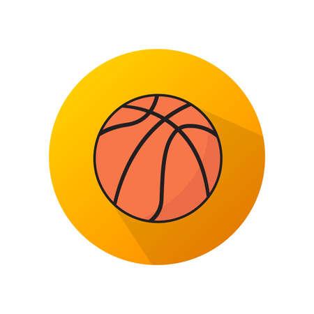 Flat design of basketball orange vector icon. Vectores