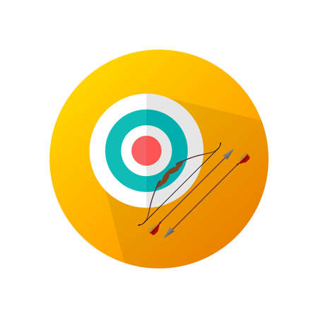 Target archery orange vector icon.