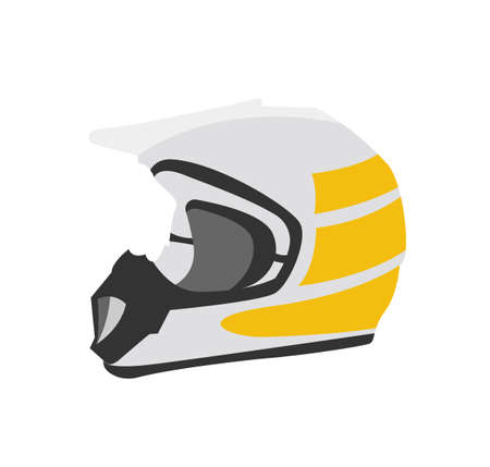 Vector icon of tourist protective helmet for cycling and motorcycle.