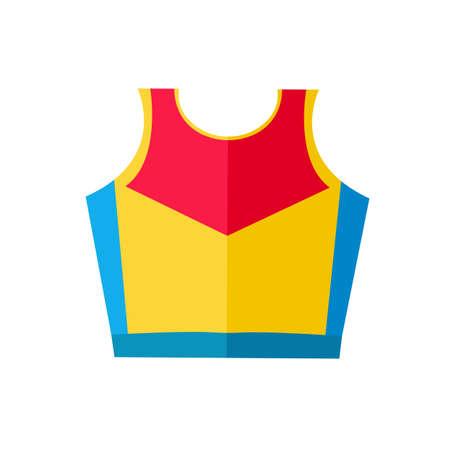 평면 벡터 셔츠 마라톤 러너 선수 아이콘입니다.