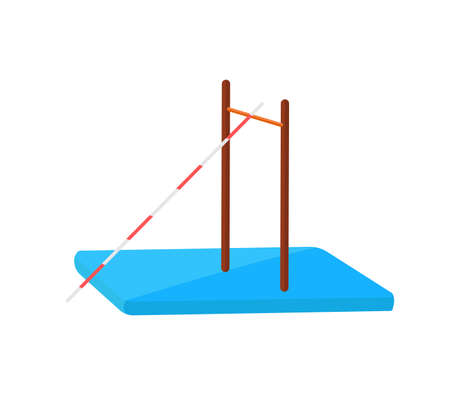 Athletics jumping pole flat vector icon.