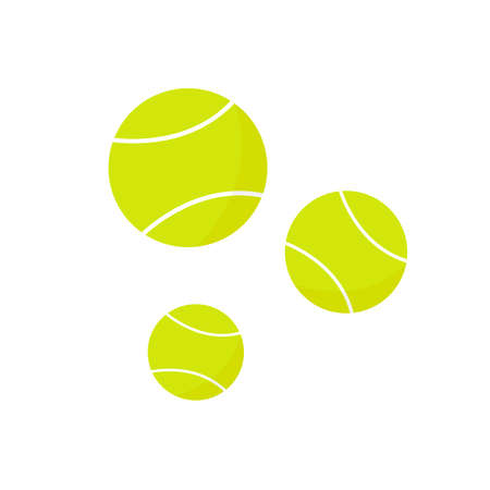 Tennis balls icon on the white background. Vector illustration. Illustration