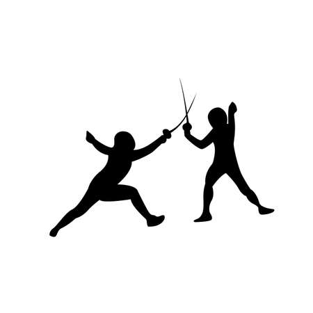 Fencing sport shorts icon on the white background. Vector illustration.