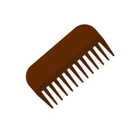 Horse comb icon on the white background. Vector illustration.