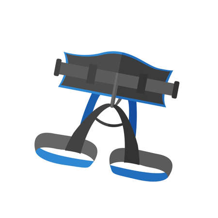 Climbers insurance icon on the white background. Vector illustration. Illustration