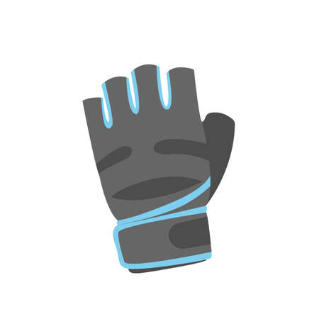 Gray sport gloves icon on the white background. Vector illustration.
