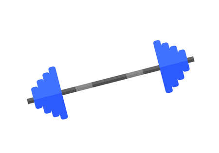 Barbell vector illustration on the white background.