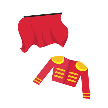 Red things of a bullfighter vector illustration on the white background.