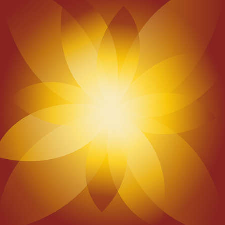 Brown background of flower glow element . Vector illustration. Illustration
