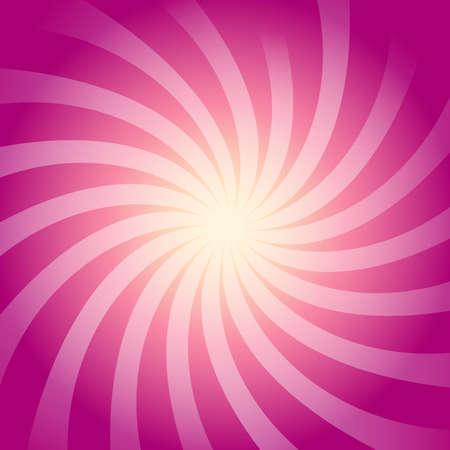 Oggetto di lustro del fiore su fondo astratto rosa. Illustrazione vettoriale