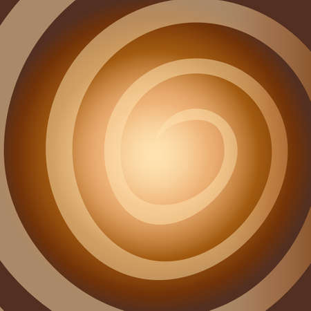 Vector line shine element on Brown background with glow. Vector illustration.