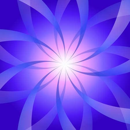 Burst purple flower in space.