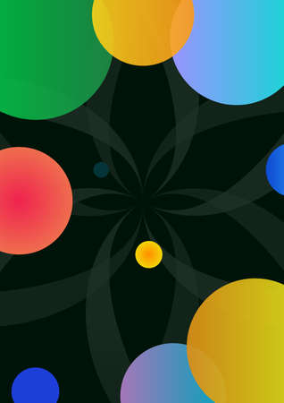 Abstract geometric background with color elements Vector illustration. Illustration