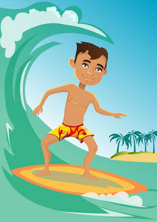 raster image of a young guy who surfs