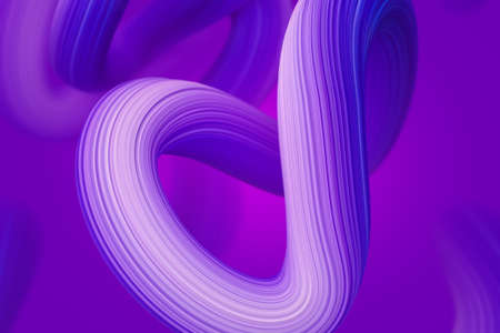 Shine purple nodes 3D rendering Illustration. Abstract network stroke background for cover and banners. Stockfoto