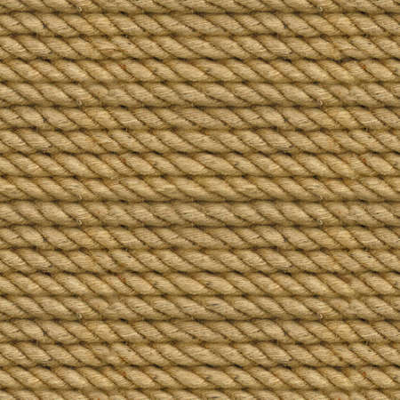 Seamless texture of the rope. Close up top of view background. Stockfoto