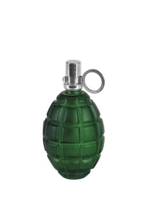 Model grenades in a bottle on a white background photo