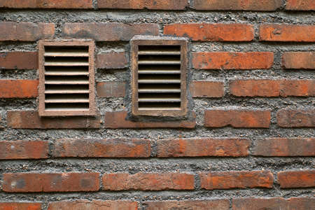 Fragment of old brick masonry wall with two windows Stock Photo - 20933812