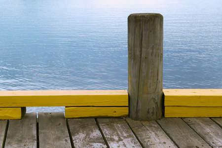 Bollard on the sea pier, designed for mooring ships