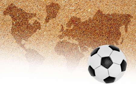 arbitros: Un balón de fútbol playa y el silbato del árbitro. Idea
