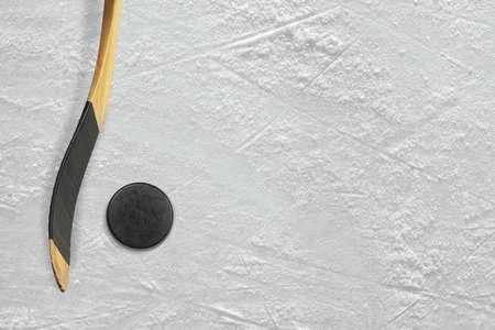 inventario: Duende malicioso y palillo en la pista de hielo. Textura, fondo
