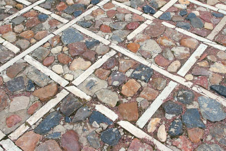 pavement: Fragment of ornament stone pavement. Background, texture, architecture