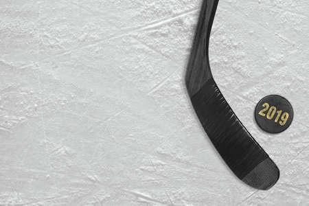 Sports accessories closeup, the season of 2019. Concept, hockey, wallpaper