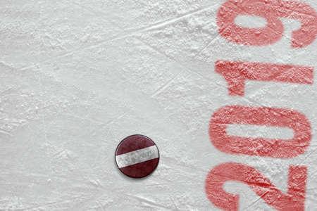 Fragment of a sports background and accessory, hockey season Фото со стока