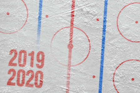 Fragment of a conceptual sports ice background, hockey season Reklamní fotografie