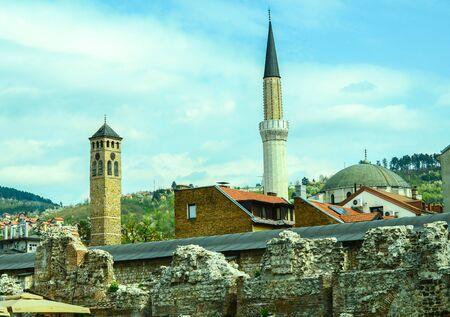 Bell Tower and Minarets Sarajevo Panorama