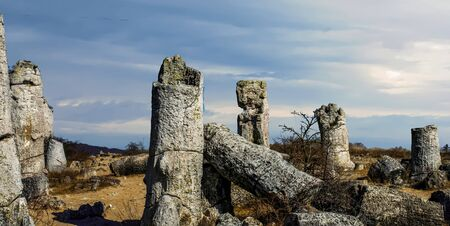 Pobiti Kamani, orThe Stone Desert, is a desert-like rock phenomenon located on the north west Varna Province border in Bulgaria. It is considered the only desert in Bulgaria and one of few found in Europe.[citation needed] The desert consists of sand dune Stockfoto