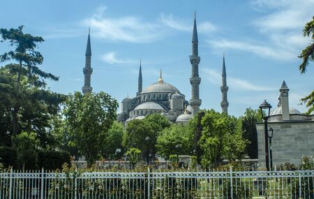 The Sultan Ahmed Mosque is a historic mosque located in Istanbul, Turkey. A popular tourist site, the Sultan Ahmed Mosque continues to function as a mosque today.