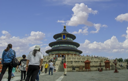 The Temple of The Temple of Heaven is an imperial complex of religious buildings situated in the southeastern part of central Beijing, China. The complex was visited by the Emperors of the Ming and Qing dynasties for annual ceremonHeaven In Beijing, China