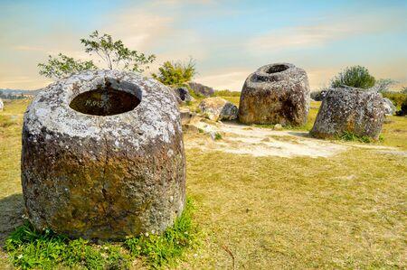 Big Jar at This is the biggest stone jar at the Plain of Jars site 1 in Phonsavan, LaosThe Plain of Jars In Phonsavan Laos
